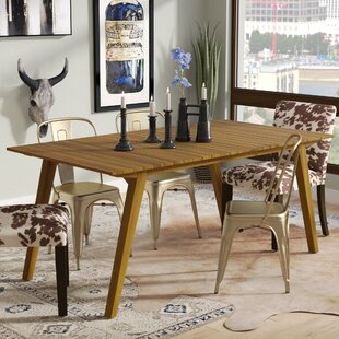 Lindo Rustic Wood Dining Table