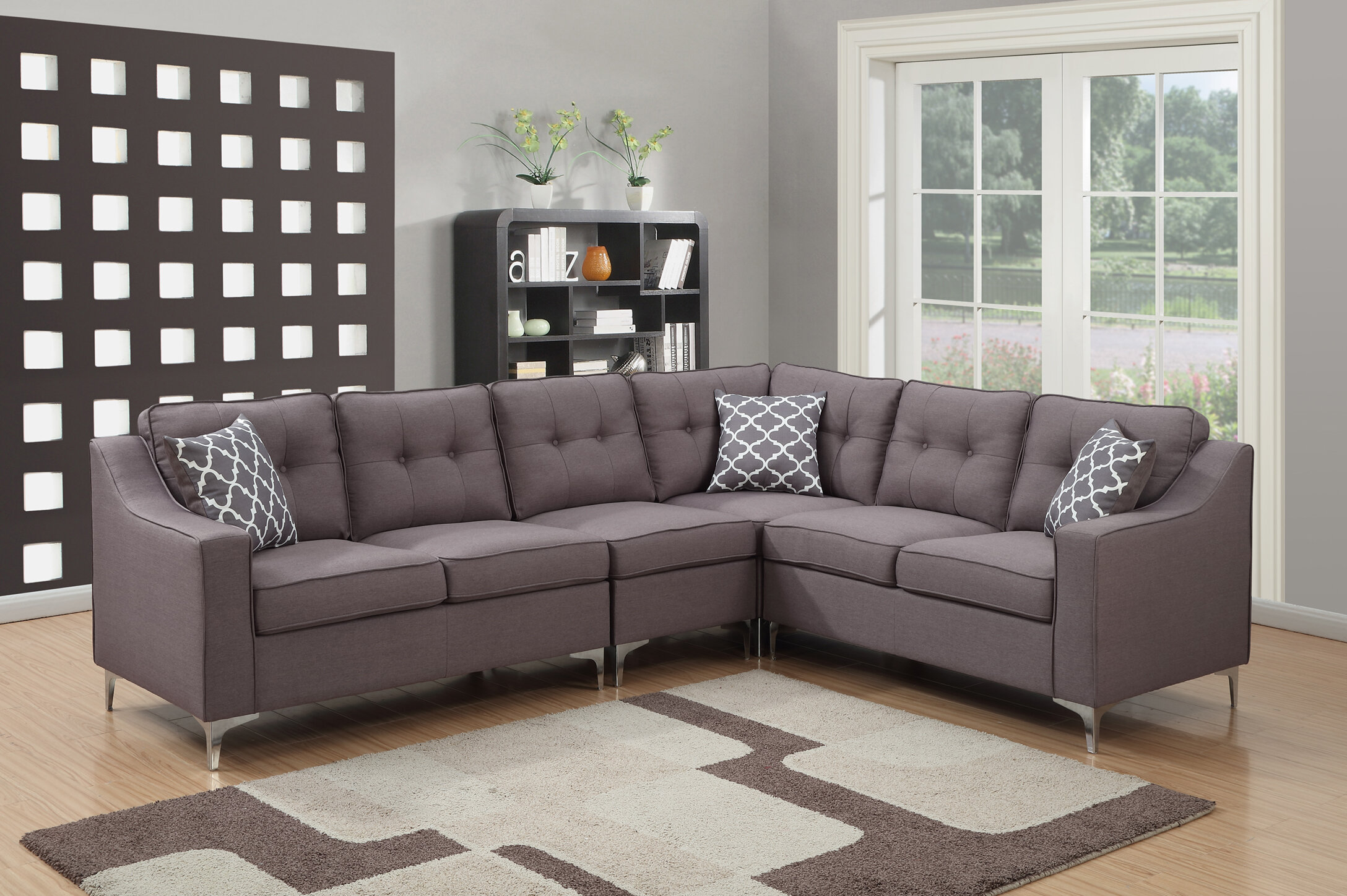 AC Pacific Kayla Mid Century Sectional U0026 Reviews | Wayfair