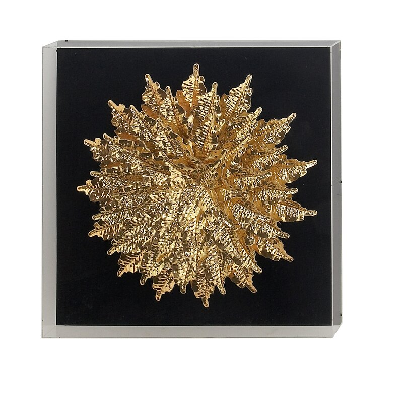 Contemporary Round Feather Shadow Box Wall Decor Allmodern