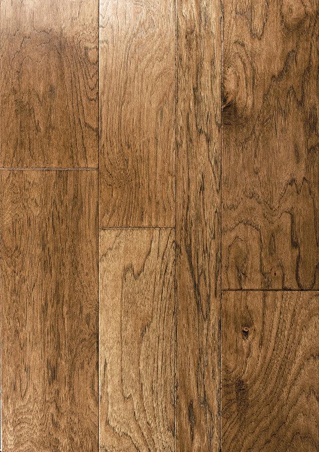 Beau Catalan Random Width Engineered Hickory Hardwood Flooring In Madrid