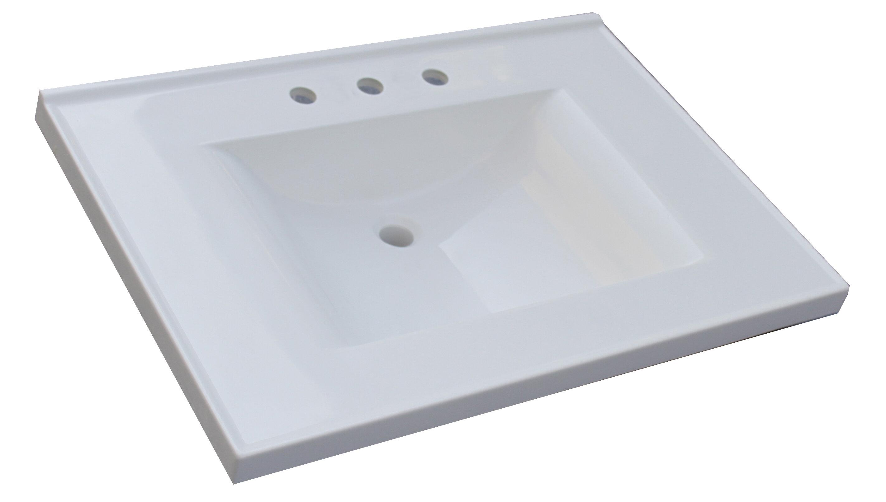 Sagehill Premier Single Bathroom Vanity Top Reviews Wayfair - 31 bathroom vanity with top