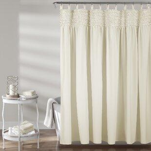 White Ruffle Shower Curtains