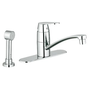 Grohe Eurosmart Cosmopolitan Single Handle Deck Mount Centerset Kitchen Faucet with Side Spray