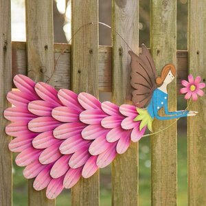 Garden Angel Iron Flying Fairy Wall Du00e9cor