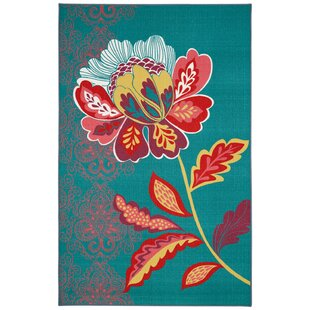 Ruggieri Amaranda Teal Area Rug By Bungalow Rose