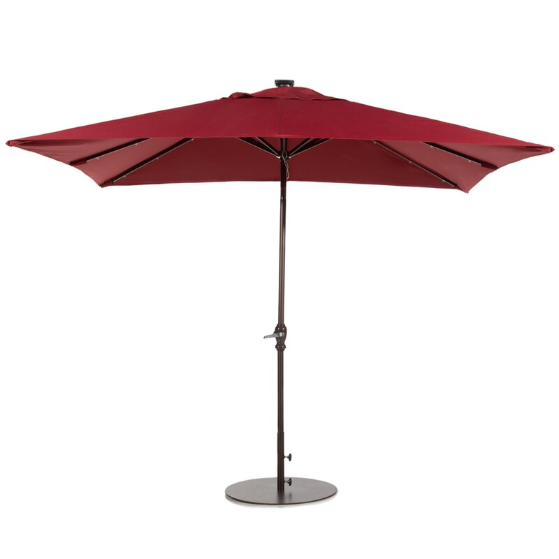 Led Patio Umbrella Reviews: Abba Patio 7' X 9' Rectangular Lighted Umbrella & Reviews