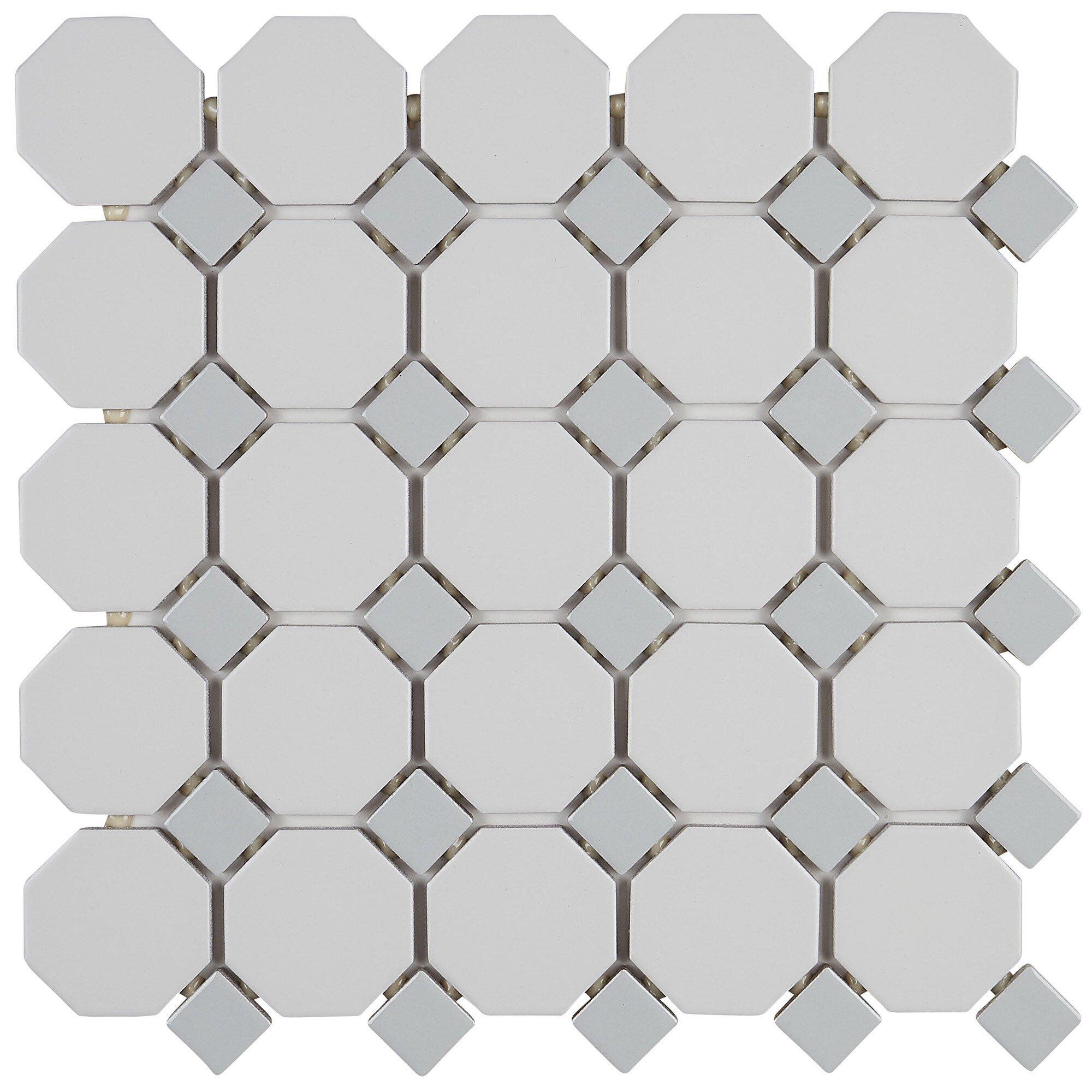 Itona Tile Osmond 12 X Ceramic Mosaic In Matte White Sheet Reviews Wayfair