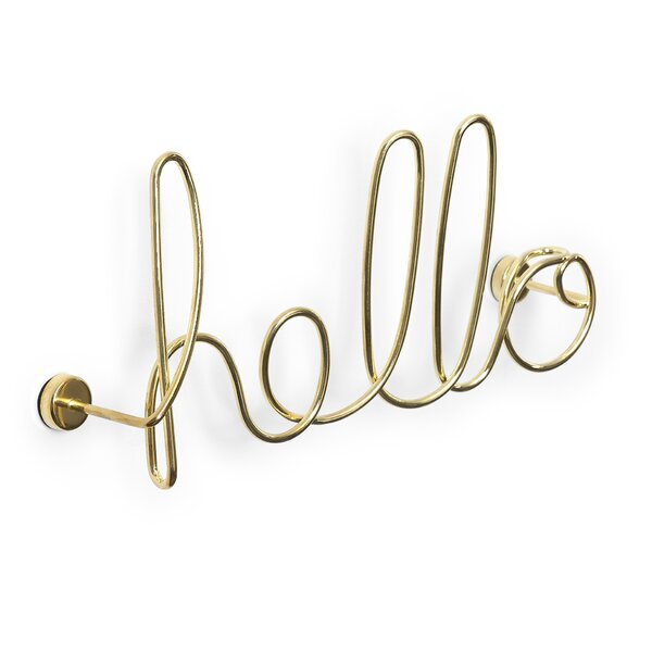 Brass Wired Words Hello Wall Decor (Part Number: 1005956 104) by Allmodern