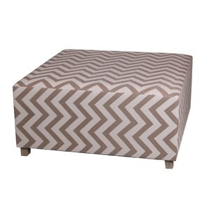 Chevron Square Ottoman by Privilege