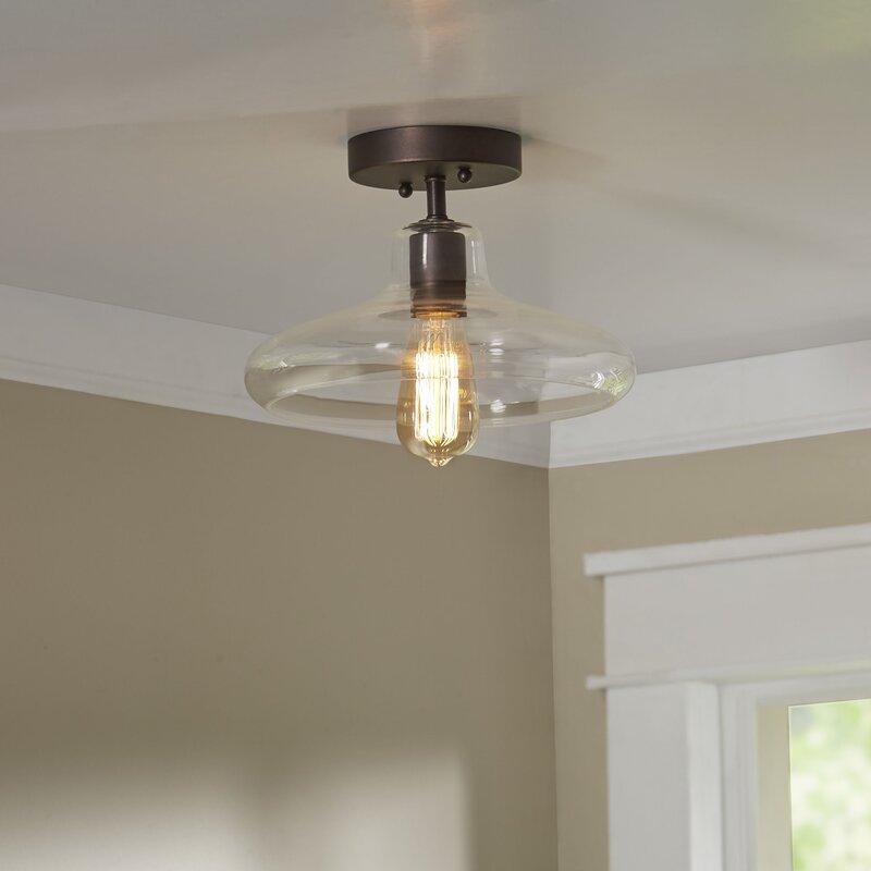 Laurel Foundry Modern Farmhouse Bouvet 1 Light Semi Flush Mount Amp Reviews Wayfair