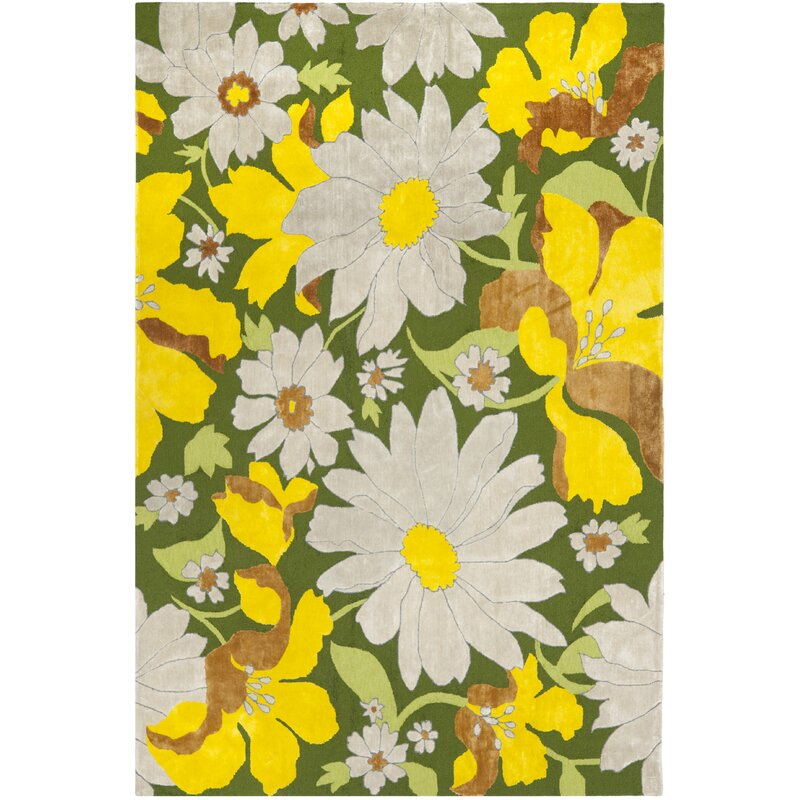 August Grove Pipers Yellow/Beige Area Rug, Size: Rectangle 8 x 10