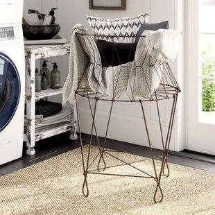 Vintage Wire Laundry Hamper