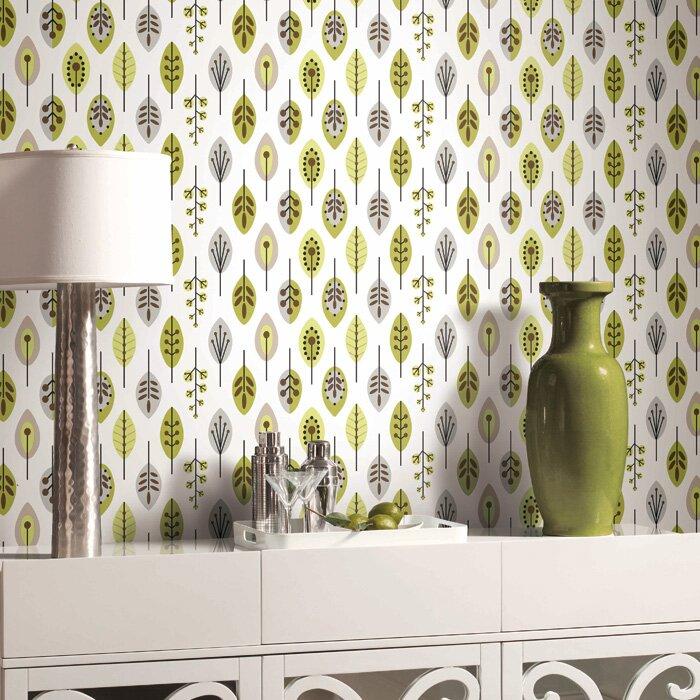 Bistro 750 33 X 20 5 Quot Retro Leaves Wallpaper Amp Reviews
