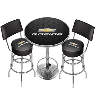 Chevy Racing Game Room Combo 3 Piece Pub Table Set