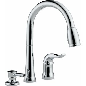 Kate Pull Down Single Handle Kitchen Faucet with Diamond Seal Technology and MagnaTiteu00ae Docking