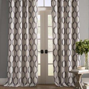 Valdovinos Geometric Blackout Grommet Single Curtain Panel Part 69