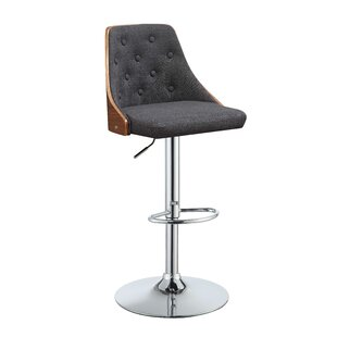 Goodrum Adjustable Height Swivel Bar Stool