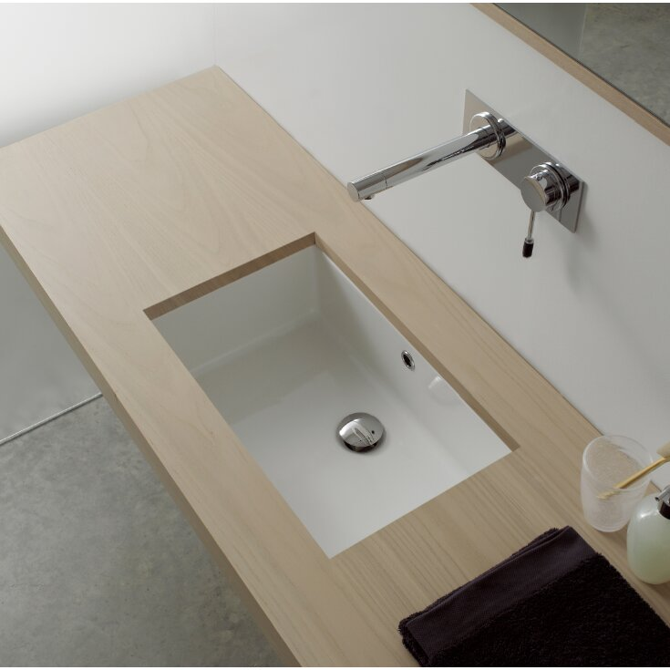 Scarabeo by Nameeks Miky Ceramic Rectangular Undermount Bathroom ...