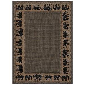 Sawtelle Black/Beige Indoor/Outdoor Area Rug