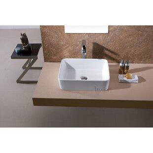 Ceramin Rectangular Vessel Bathroom Sink