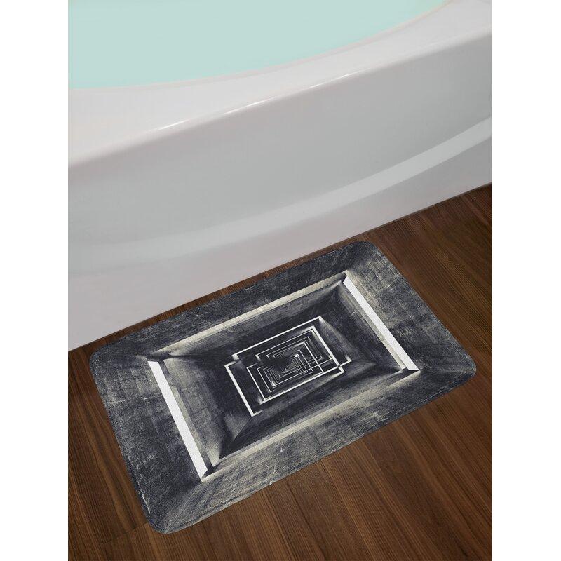 Architecture Dark Grey Bath Rug