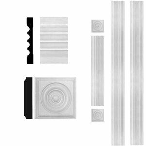 3/4 in. x 5-1/4 in. x 8 ft. MDF Fluted Door Casing Set Moulding
