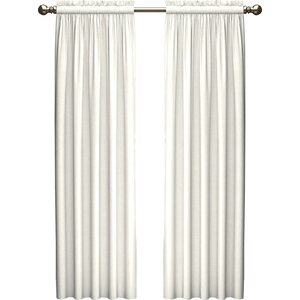 Kenda Solid Light Filtering Rod Pocket Curtain Panels (Set of 2)