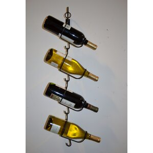4 Bottle Wall Mounted Wine Rack by J & J Wire