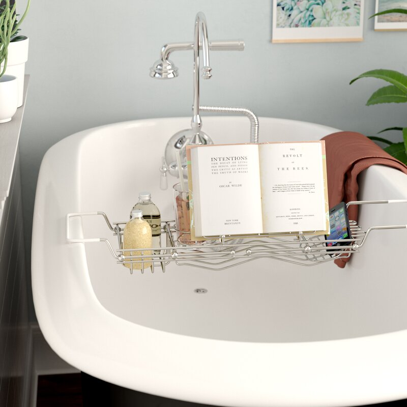 Stainless Steel Bath Caddy & Reviews | Birch Lane