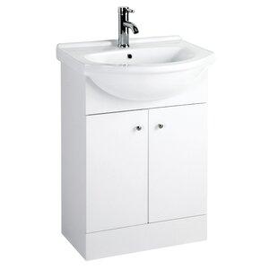 All Home 22 cm Freistehender Waschtisch Plaza mit Schrank