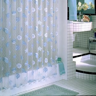 Charmant Brincken Vinyl Seaside Shower Curtain