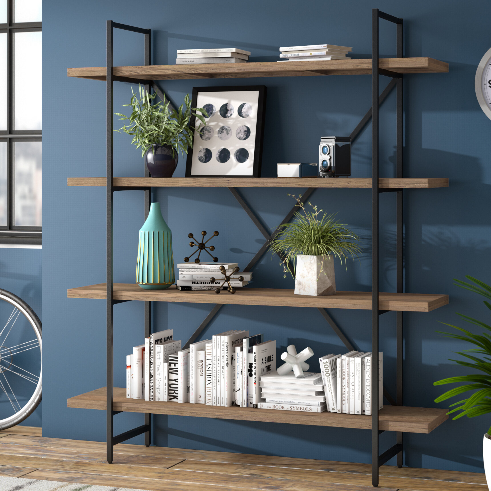 09a9514568967 Zipcode Design Champney Modern Etagere Bookcase   Reviews
