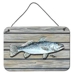 253777d85c3f Fish Speckled Trout by Sylvia Corban Graphic Art Plaque