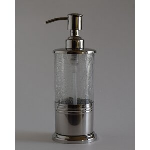 crackle glass bathroom accessories. Goodman Hand Crafted Crackle Glass Soap Dispenser Bath Accessories  Birch Lane