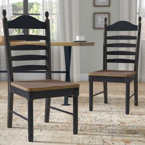 Franca Ladder Back Solid Wood Dining Chair (Set of 2) by Laurel Foundry Modern Farmhouse