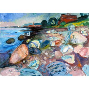 Shore With Red House Painting Print