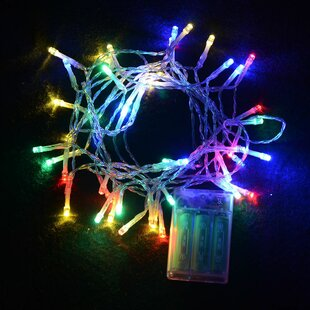 timer battery operated 100 led string lights