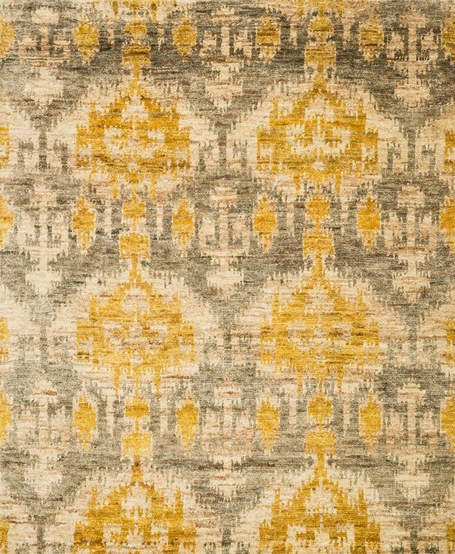 Xavier Hand Knotted Gray Gold Area Rug