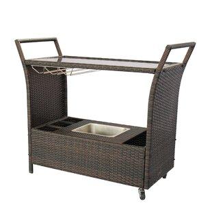 Iowa Wicker/Rattan Bar Cart