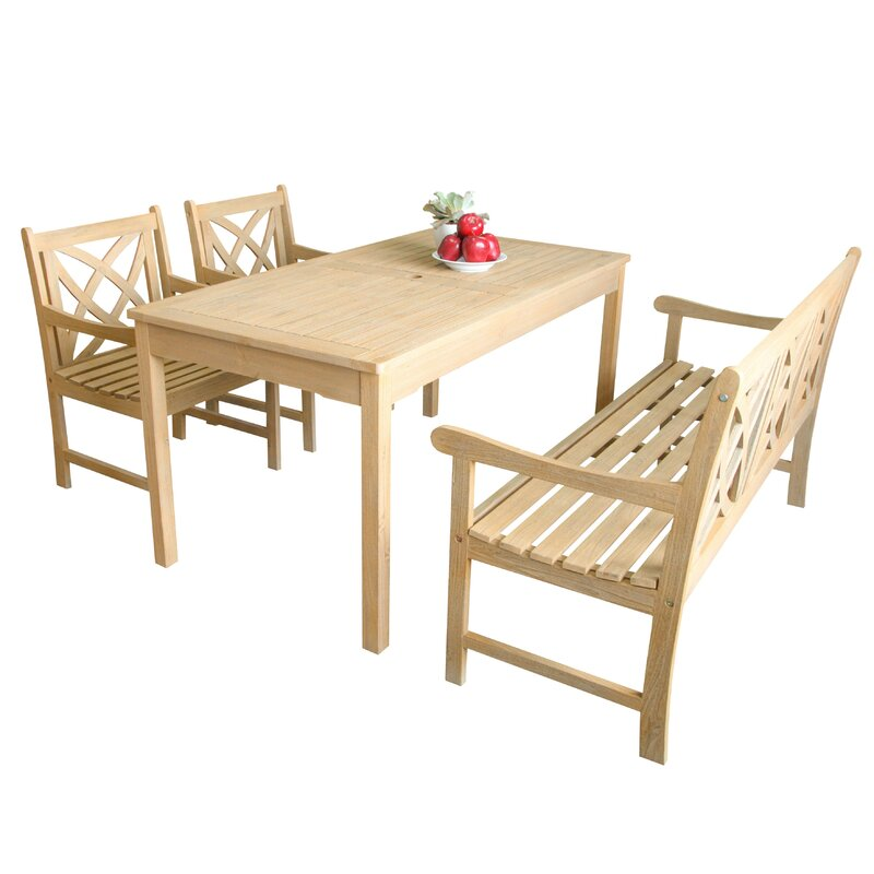 Beverly Outdoor 4 Piece Dining Set
