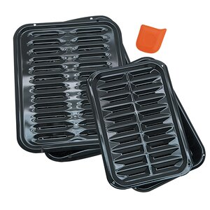 5 Piece Heavy Duty Broiler Pan Set
