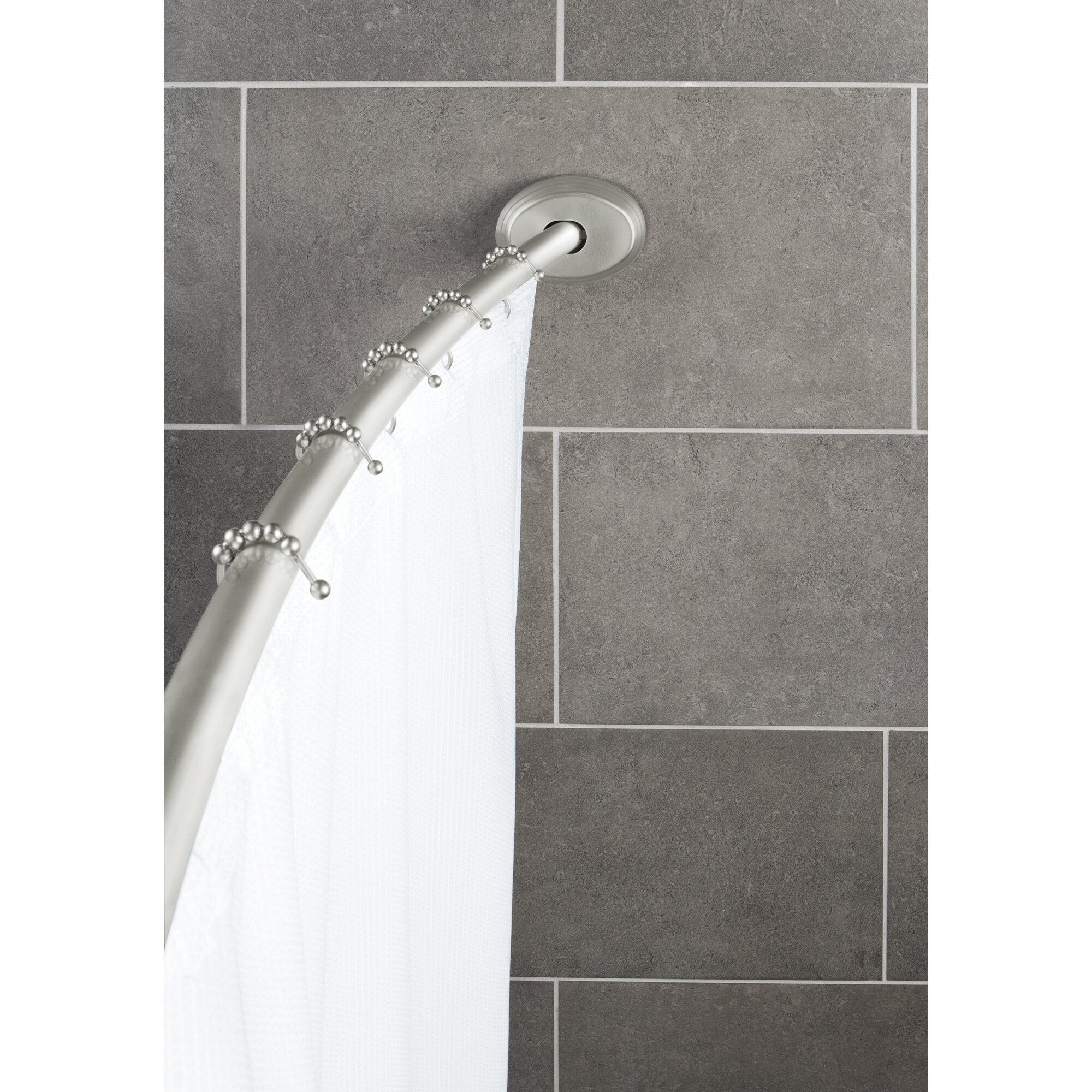 Maytex 72 Adjustable Curved Fixed Shower Curtain Rod