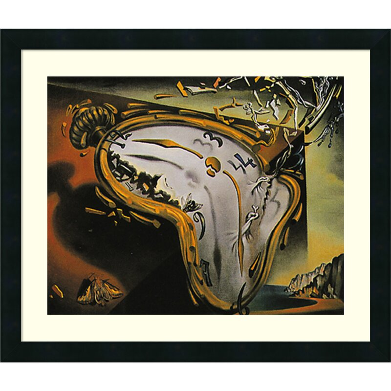 'Melting Watch' by Salvador Dali Framed Graphic Art