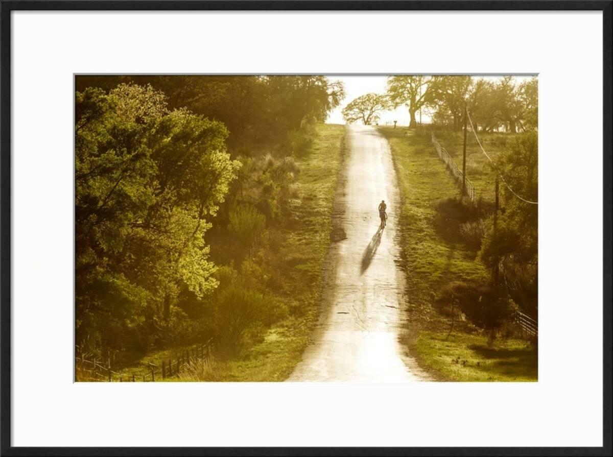 Winston porter road cycling in texas hill country near fredericksburg texas usa framed photographic print wayfair