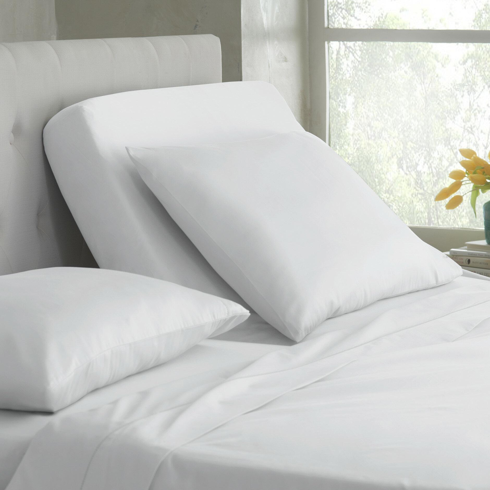 Martex Split King White 400 Thread Count Cotton Blend Sheet Set Reviews Wayfair