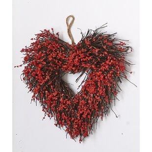 Heart 11  Wreath  sc 1 st  Wayfair & Heart Shaped Wreaths   Wayfair
