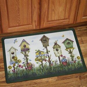Birdhouse Anti Fatigue Kitchen Mat