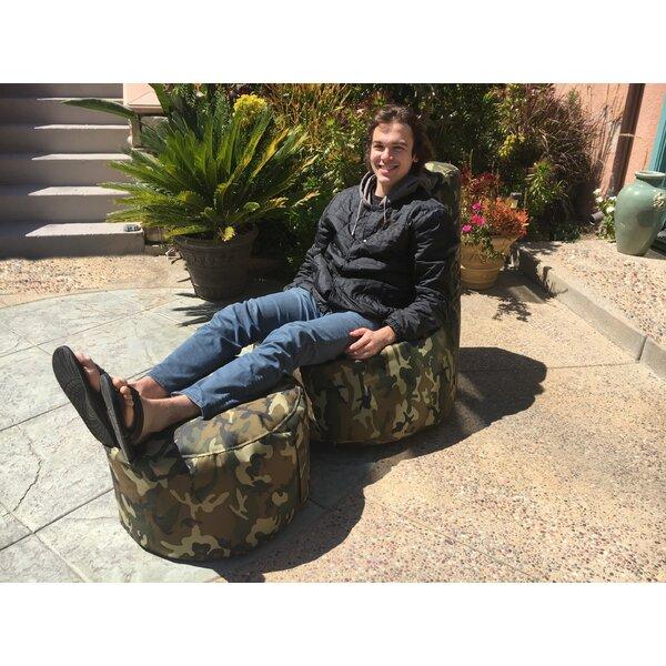 Freeport Park Aurore Large Durable Camo Bean Bag Chair For Reviews