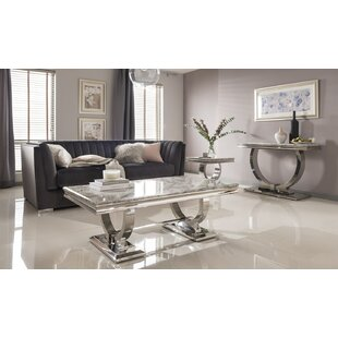 Ameche 3 Piece Coffee Table Set ...  sc 1 st  Cubilo Wingback Chair By Three Posts & Ameche 3 Piece Coffee Table Set By Charlton Home | Compare Price