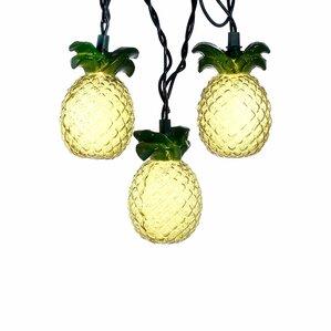 10-Glass-Look Pineapple Light
